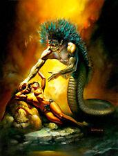 Quetzalcoatl by Boris Vallejo A1+ High Quality Canvas Print