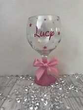 Personalised Gin Glass - Any Name - Any Colour- Birthday 18th 21st 30th 40th 50t