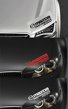 For Mazda - MAZDA PERFORMANCE HEADLIGHT CHECKS CAR DECAL STICKER RX-8 300mm long