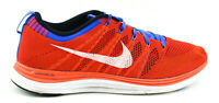 MENS NIKE FLYKNIT ONE LUNAR RUNNING SHOES SIZE 10.5 RED ORANGE BLUE 554887 816