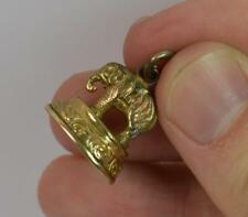 Victorian Gold Plated Elephant Design Pocket Watch Fob or Pendant t0007