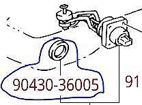 Toyota 9043036005 Oil Level Sensor/Engine Oil Level Sensor Seal