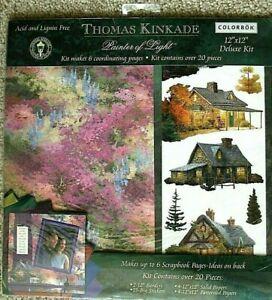 "New Thomas Kinkade ""Painter of Light"" Deluxe Scrapbooking Kit"