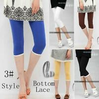 AU SELLER Adults Teens Girls Cotton Bottom Lace Short Leggings Dress pants p059