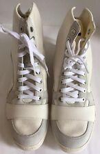 New Puma McQ Serve Hi Top Cut Sneakers White Whisper Canvas 9 Men Shoes Limited