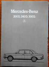 Mercedes Benz Prospekt: W 123, 200D, 240D, 300D, 12.1981, Zustand gut