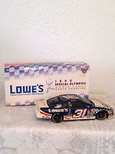 NASCAR #31MIKE SKINNER 1/24 SCALE CAR/BANK SPECIAL OLYMPICS 1998 PLATINUM