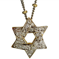 Star Of David Diamond Necklace & Pave Diamonds In 14k Yellow Gold
