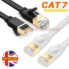 RJ45 CAT7 Network Ethernet SSTP 10Gbps Gigabit Ultra-Thin Patch LAN Flat Cable