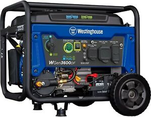 Westinghouse Outdoor Power Equipment WGen3600DF Dual Fuel (Gas and Propane) Elec