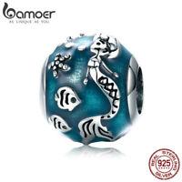 Bamoer S925 Sterling Silver charms Enamel Bead Mermaid's Missing Fit Bracelet