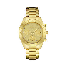 Caravelle New York Womens 44L213 Quartz Crystal Chronograph Gold-Tone 36mm Watch