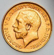 More details for lustrous high grade 1913 king george v gold half sovereign