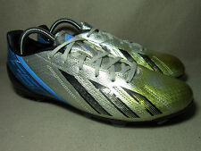 ADIDAS F10 ADIZERO TRX FG F50 Men's Black/Silver Football Boots UK 9/ EU 43