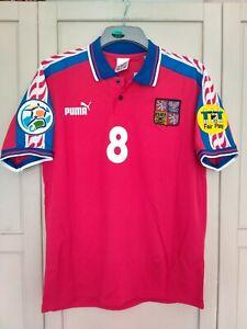 POBORSKY Czech Republic 1996 SHIRT EURO 96 HOME Football Shirt MEDIUM NEW
