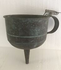 VINTAGE COPPER FUNNEL with SIDE HANDLE  and THUMB LEVER CONTROL