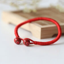 1X Women Hand Braided Chinese Red Simple Style Lucky String Rope Cord Bracelet