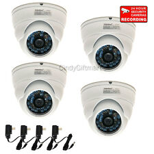 "4 Security Camera with 1/3""SONY CCD Infrared Wide Angle Outdoor Surveillance CQB"