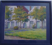 TRes belle AQUARELLE Arbres Verdure Achille MOHRIEN (1873-1945)