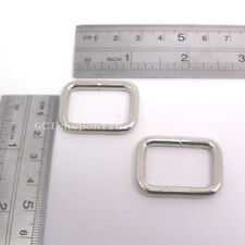 50 PCS 1 Inch Rectangle No Welded Dee Rings for webbing