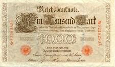 ALLEMAGNE GERMANY 1000 M reichsbanknote 1910 état voir scan 283