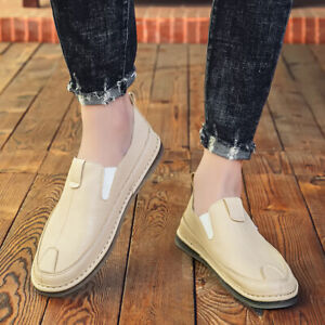 Mens Loafers Dress Slip On Round Toe Casual Driving Summer Spring Shoes