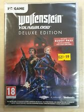 Wolfenstein Young Blood Deluxe Edition (Code in a Case Game) - PC Rom - New