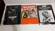 LOT OF 3 VAN HALEN MUSIC BOOKS METAL MANIA 1 & 2 JUMP DAVID ROTH EDDIE VINTAGE
