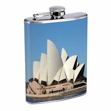 Famous Landmarks D3 Flask 8oz Stainless Steel Hip Drinking Sydney Opera House