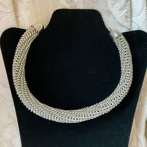 Topshop Statement Silver Tone Necklace
