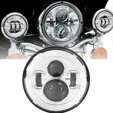"7"" Chrome Projector Daymaker LED Buble Light Headlight Fit Harley Davidson FLSTN"