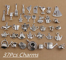 37style Mixed Tea Pot  Charms Pendants Tibetan Silver For Necklace Bracelet