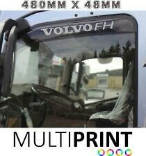 Volvo FH Lorry Truck Cab Wind Deflector Vinyl Graphics Stickers 2 x LOR40