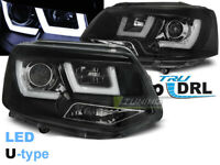 Coppia di Fari Anteriori LED DRL Inside per VW T5 2010-2015 Neri IT LPVWL2-ED XI
