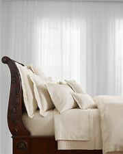 RALPH LAUREN RL-624 SOLID SATEEN KING DUVET COMFORTER COVER • CREAM • NEW