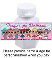 30 Lol Surprise Dolls Birthday Party Baby Shower Bubble Labels Stickers Favors