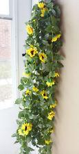"""90"""" Sun Flower Vines Artificial Garland Arch Home Garden Wall Decor (set of 4)"""
