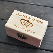 Custom Ring Bearer Box, Personalized Wedding Ring Box, Rustic Ring Box Engraved