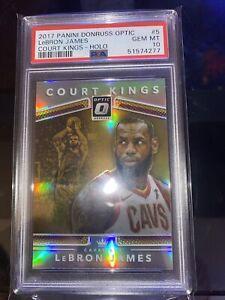 2017-18 Donruss Optic Holo Court Kings LeBron James Cleveland Cavaliers PSA 10