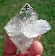 Himalayan Clear Quartz Crystal Dt Points with 4 Enhydro Ancient Water Bubbles