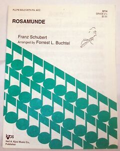 FLUTE SOLO  SCHUBERT ROSAMUNDE, W/  Piano Acc NEW