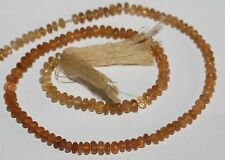 "14"" St  Imperial   Topaz  Faceted Rondell  Beads 5x3mm"