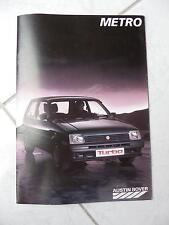 Austin Rover Metro 1987 sales brochure prospekt catalogue