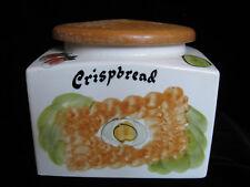 Vintage Retro Kitch Toni Raymond Pottery Crispbread Storage Jar Hand Painted