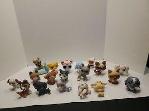 Littlest Pet Shop Dog Lot Of 19 Mini Pets