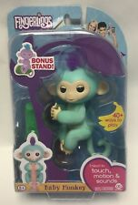 "New in Damaged Box Fingerlings Baby Monkey ""Zoe"" Interactive Toy w/ Bonus Stand"
