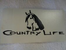COUNTRY LIFE HORSE WINDOW DECAL LAPTOP STICKER BLACK CAR TRUCK