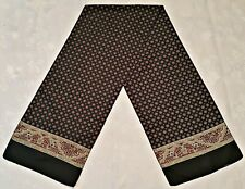 SCARF VINTAGE AUTHENTIC GEOMETRIC DOTS BLACK RED YELLOW SILK LONG MEN'S