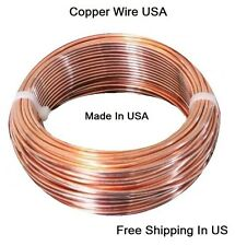 12 Ga Copper Jewelry & Craft Wire (25 Ft. Coil / 1/2 Lb.)  SOFT  Pure Copper