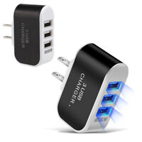 2 Pack AC Wall Outlet To USB Port Power Adapter Triple slot Socket Rapid Charger